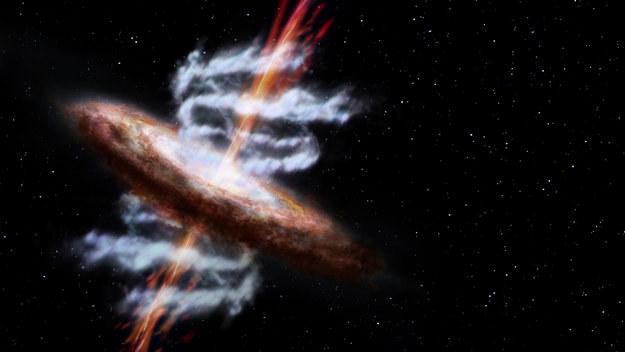 Galaktyka z czarną dziurą - cel obserwacji misji /materiały prasowe