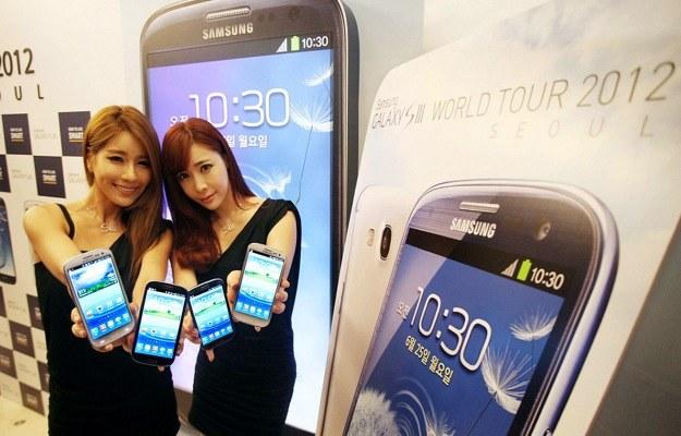 Galaxy S III zapewnił Samsungowi dominację na rynku smartfonów w 2012 roku - teraz Azjaci rozdają karty w świecie telefonów /AFP