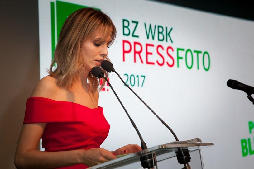Galę poprowadziła Agnieszka Hyży /. /