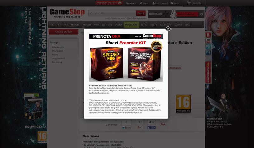 Gamestop - prezent dla konsumentów kupujących inFamous: Second Son /CD Action