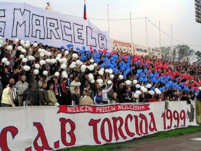 """Gang Marcela"" na trybunach Górnika /INTERIA.PL"