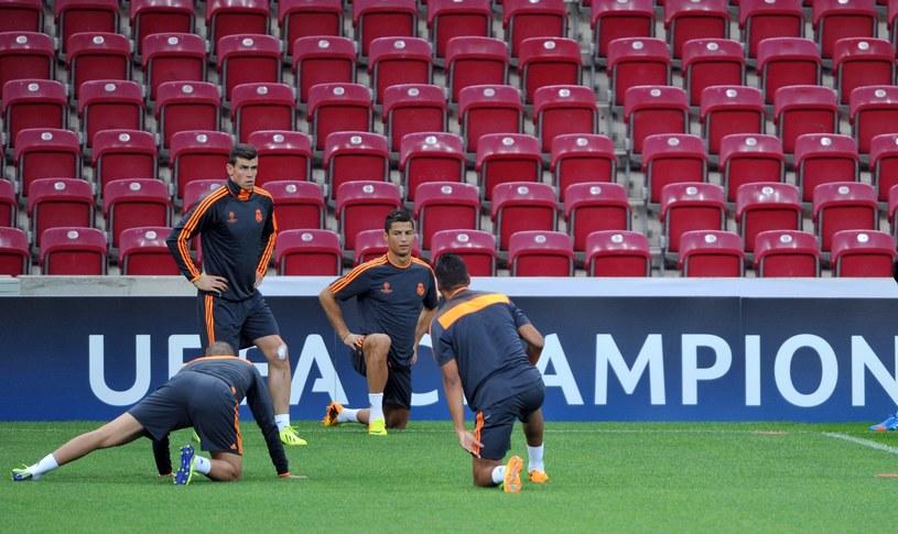 Gareth Bale i Cristiano Ronaldo na oficjalnym treningu na TT Arena w Stambule. /AFP