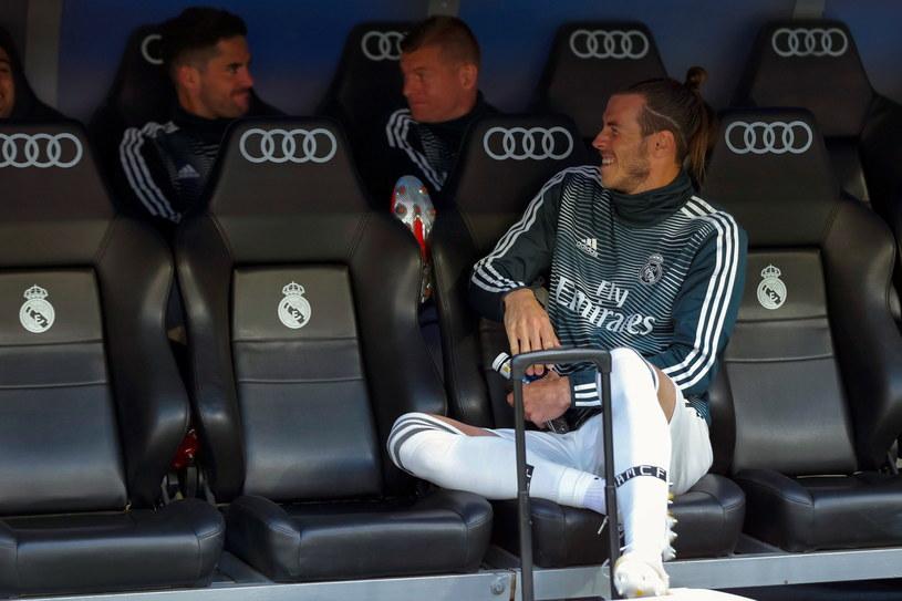 Gareth Bale na ławce rezerwowych podczas meczu z Betisem /PAP/EPA