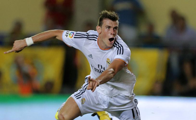 Gareth Bale świętuje swojego pierwszego gola dla Realu Madryt /AFP