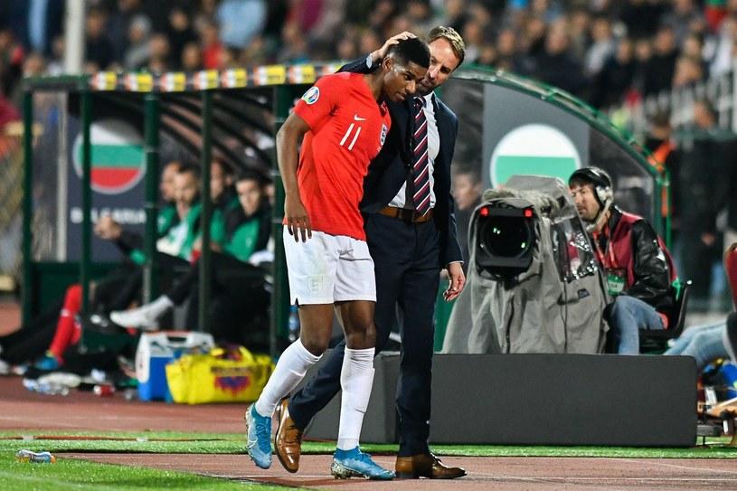 Gareth Southgate rozmawia z Marcusem Rashfordem /AFP