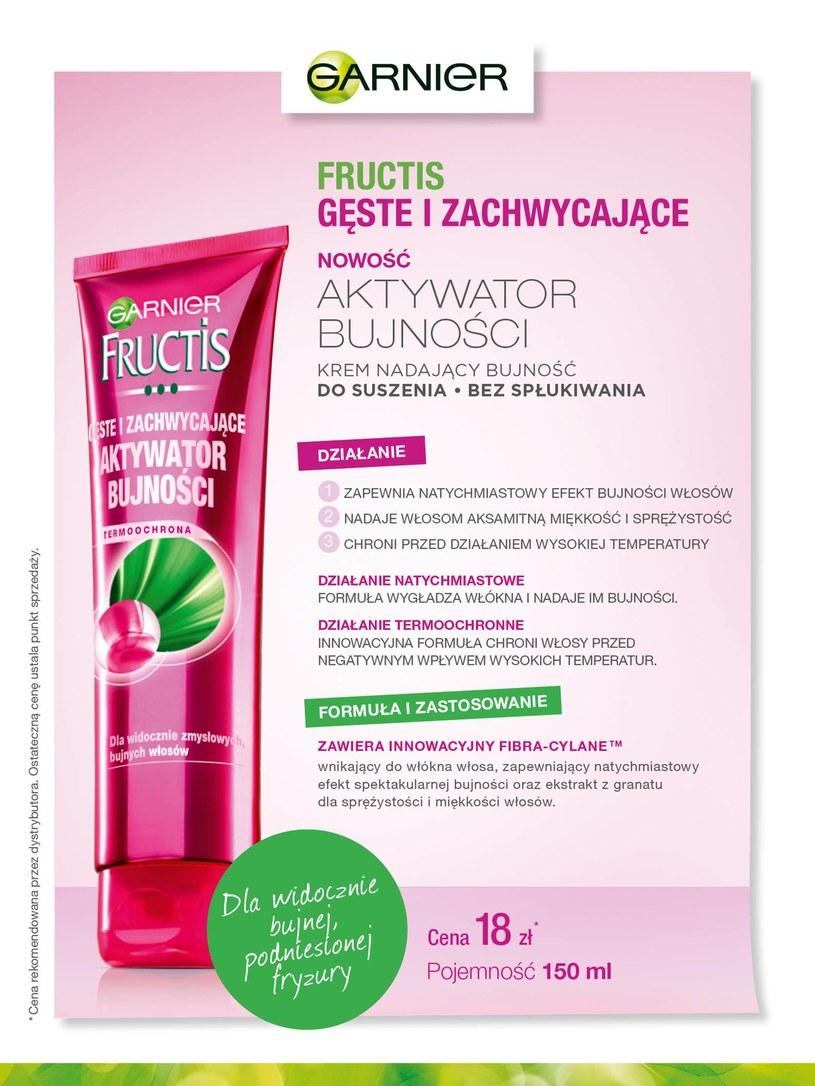 Garnier Fructis Aktywator Bujności /materiały prasowe