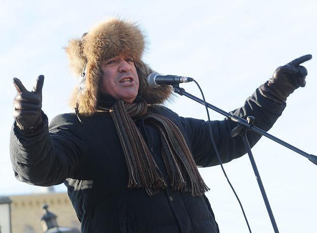 Garri Kasparow podczas demonstracji /AFP