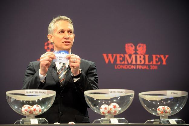 Gary Lineker rozlosował pary 1/4 finału Ligi Mistrzów /AFP