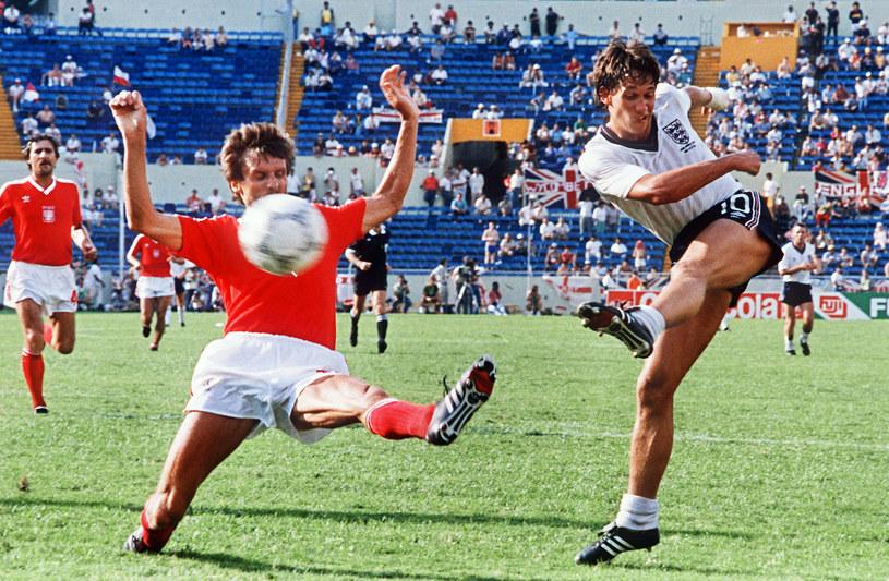 Gary Lineker strzelił Polakom trzy gole na mundialu w Meksyku /AFP