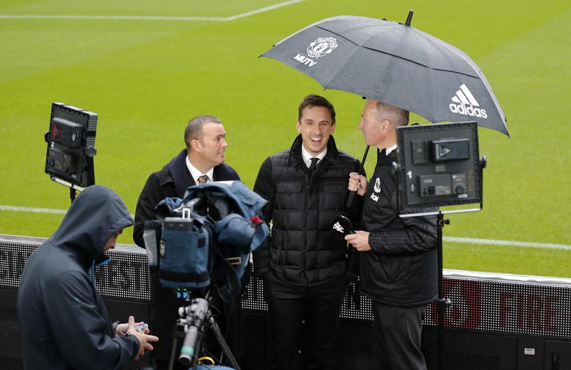 Gary Neville na stadionie w Newcastle /Simon Moore /Newspix