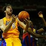 Gasol graczem meczu, ale Lakers ulegli Barcelonie