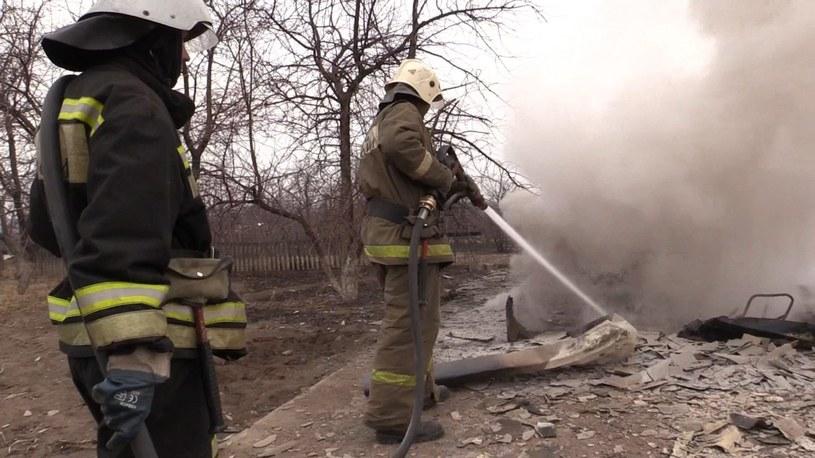 Gaszenie pożaru /PAP/EPA