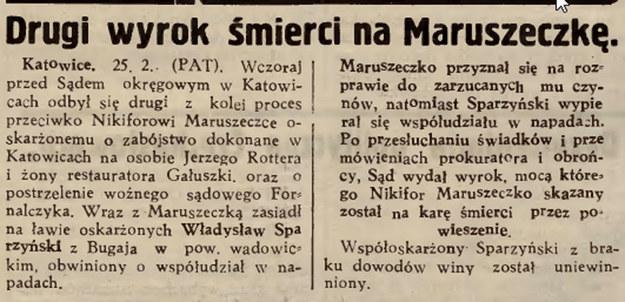 """""""Gazeta Lwowska"""" o procesie Nikifora Maruszeczko /Biblioteka Narodowa"""