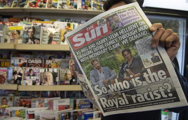 Gazety zastanawiają się, kto w rodzinie królewskiej jest rasistą /FACUNDO ARRIZABALAGA /PAP/EPA