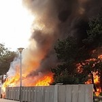 Gdańsk: Pożar na drodze do mola