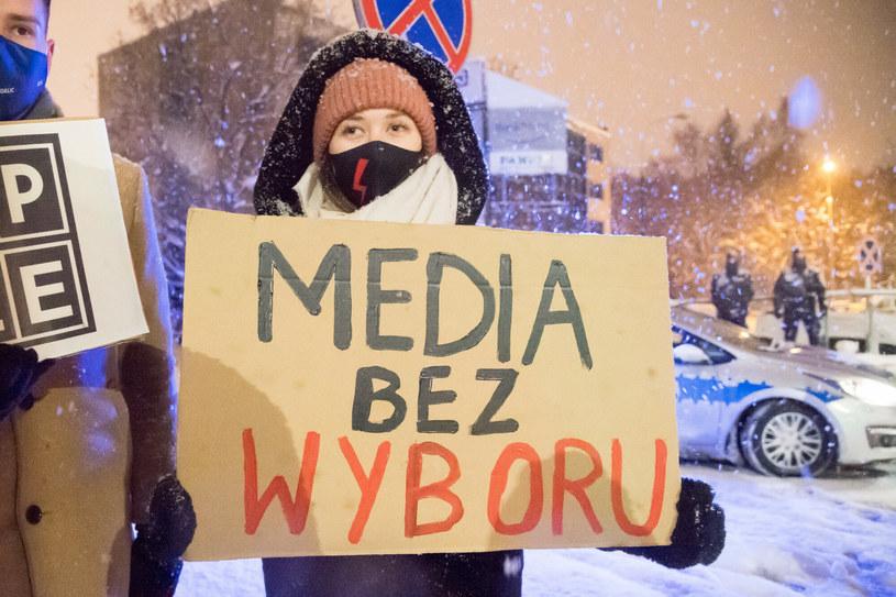 Gdańsk Protest Media bez Wyboru /Wojciech Strozyk/REPORTER /East News