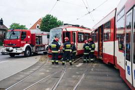 Gdańsk: Zderzenie tramwajów