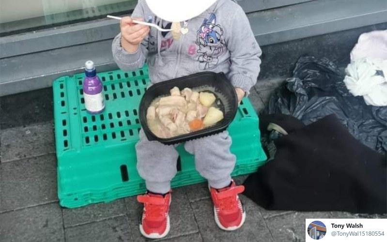 Gdyby nie pomoc ludzi dobrej woli, dziewczynka chodziłaby głodna /twitter.com/TonyWal15180554 /archiwum prywatne