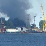 Gdynia: Pożar na terenie stoczni. Płonęły chemikalia