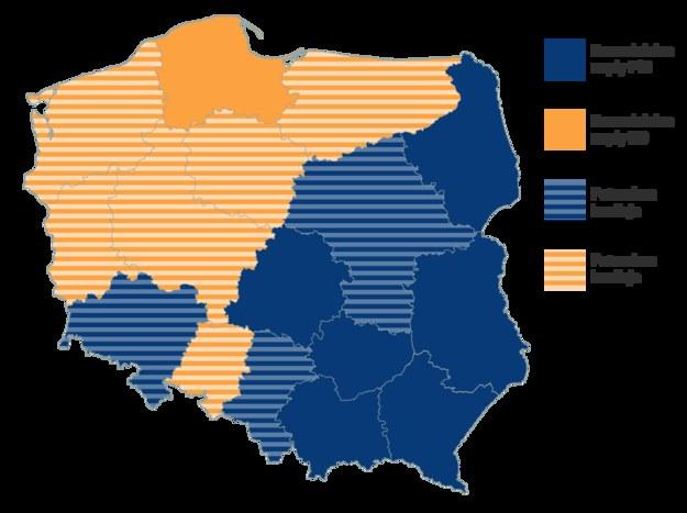Gdzie samodzielne rządy, gdzie potrzebna koalicja? /Grafika RMF FM