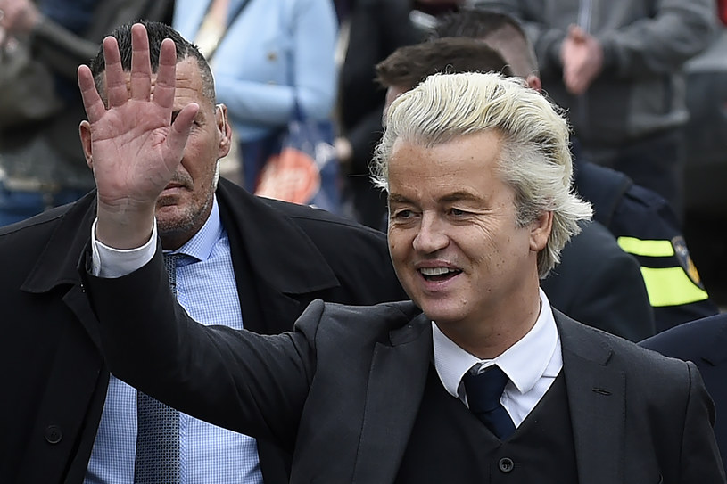 Geert Wilders, kandydat na premiera Holandii /JOHN THYS /AFP
