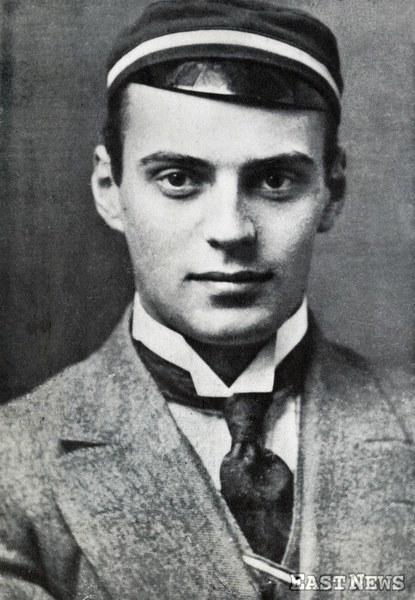 """Gen. Władysław Anders jako student Politechniki Ryskiej w deklu """"Arconii"""", 1913"""