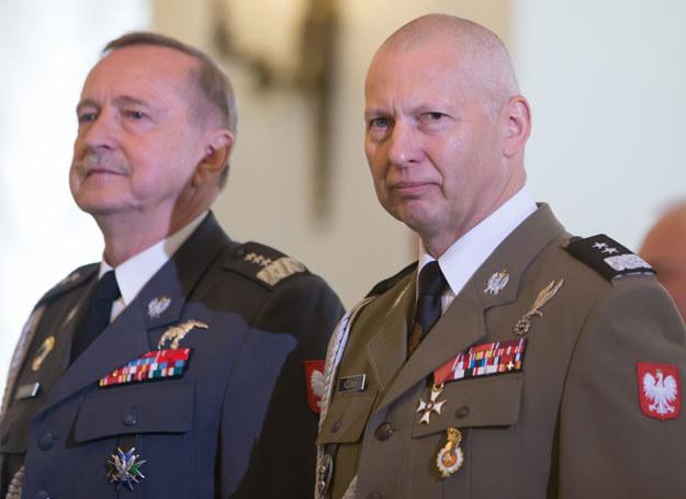 Generał Lech Majewski i generał Mirosław Różański /Krystian Maj /Agencja FORUM