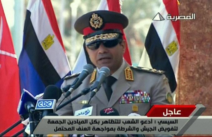 Generał Sisi, który obalił Mursiego, awansowany na marszałka /AFP