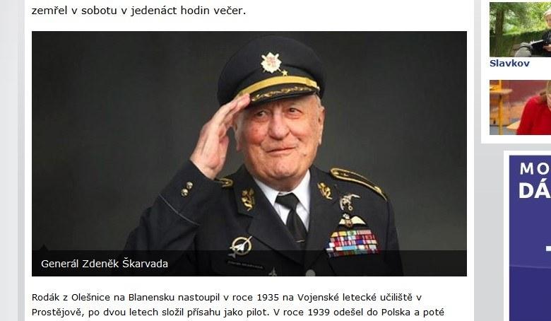 Generał Zdeněk Škarvada /ceskatelevize.cz /INTERIA.PL