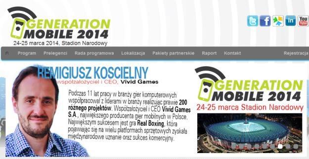 Generation Mobile 2014 - strona konferencji /materiały prasowe