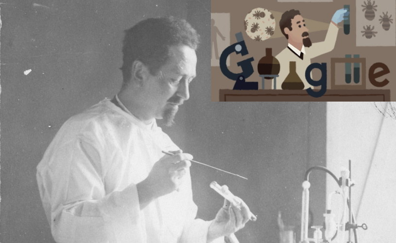Genialny Polak, Rudolf Weigl, został upamiętniony w Google Doodle /materiały prasowe