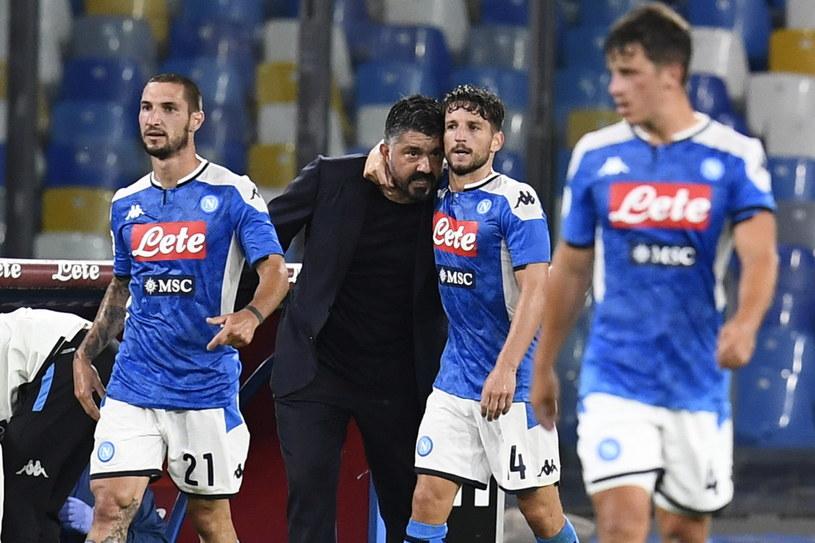 Gennaro Gattuso i Dries Mertens /CIRO FUSCO /PAP/EPA