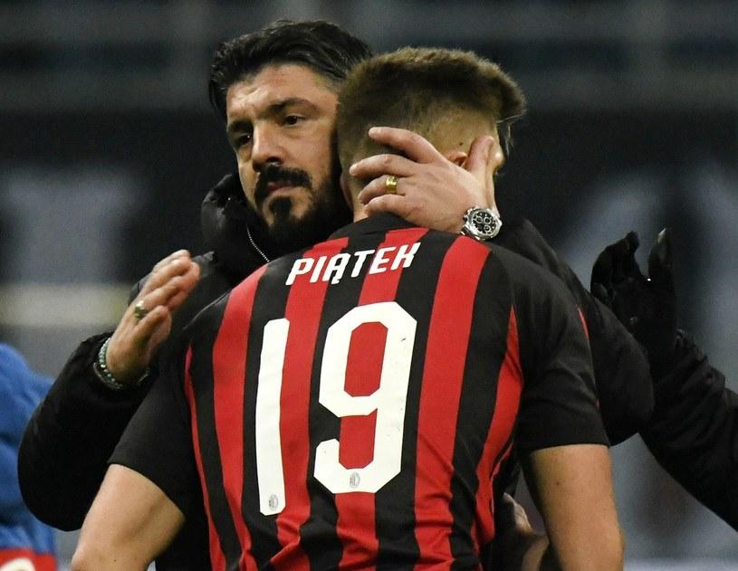 Gennaro Gattuso i Krzysztof Piątek /Paolo Bona /East News