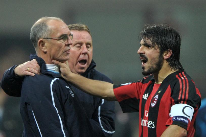 Gennaro Gattuso w słynnej akcji, gdy dusił trenera Tottenhamu /AFP