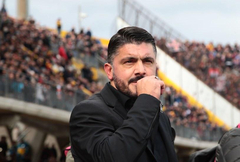 Gennaro Gattuso zadebiutował w niedzielę w roli szkoleniowca Milanu /AFP