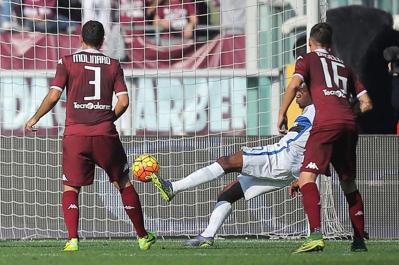 Geoffrey Kondogbia strzela jedynego gola Stadionie Olimpijskim w Turynie /AFP