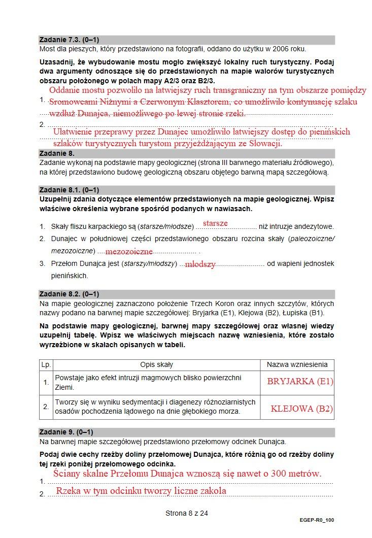 Geografia 2021. Arkusz CKE /INTERIA.PL