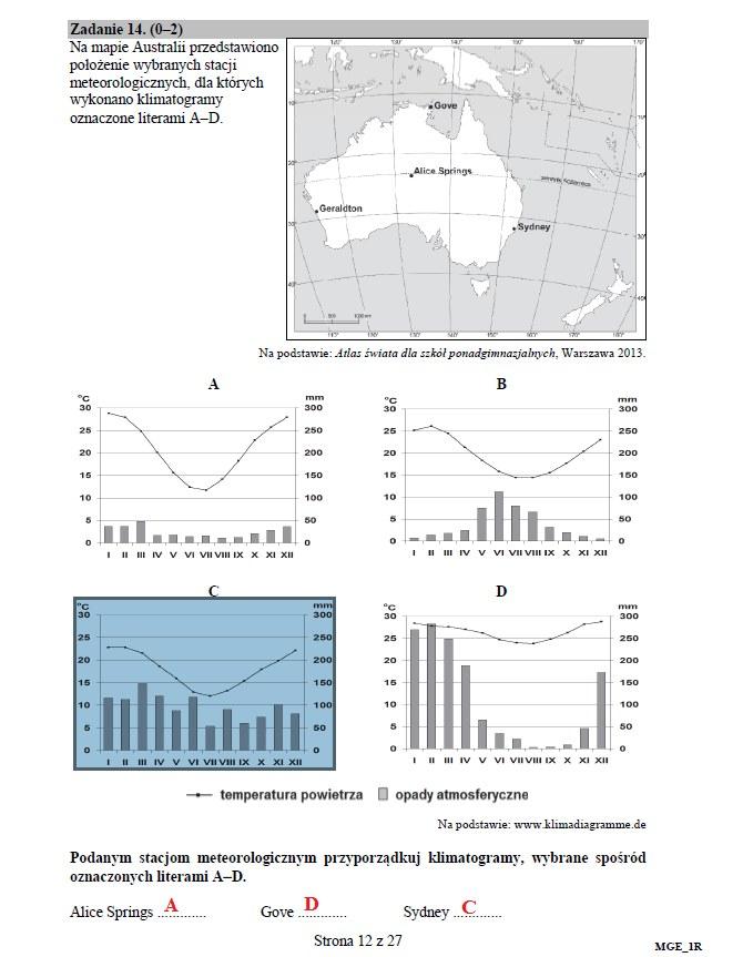 Geografia poziom rozszerzony; matura 2017 /INTERIA.PL
