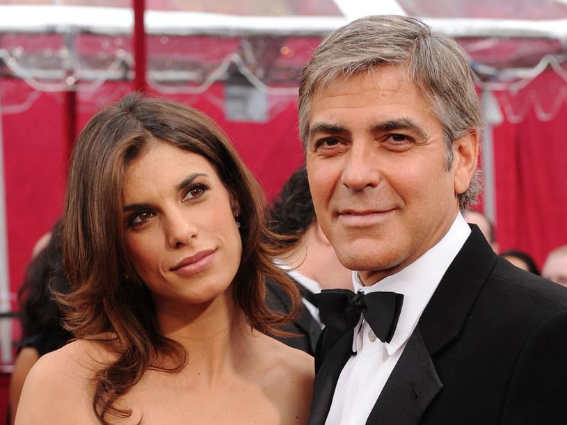 Georege Clooney i Elisabetta Canalis  /Getty Images/Flash Press Media