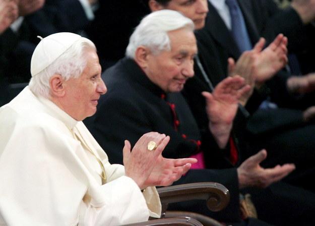 Georg i Joseph Ratzingerowie na zdj. z 2007 roku /GIUSEPPE GIGLIA /PAP/EPA