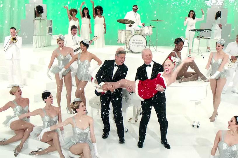 "George Clooney, Bill Murray i Miley Cyrus w ""A Very Murray Christmas"" /Netflix /materiały prasowe"