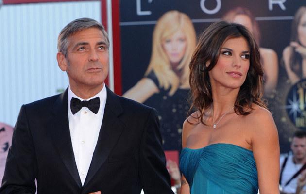 George Clooney i jego nowa partnerka, włoska aktorka Elisabetta Canalis  /Splashnews