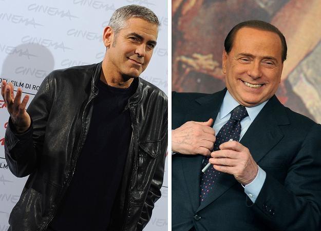 George Clooney i Silvio Berlusconi /AFP