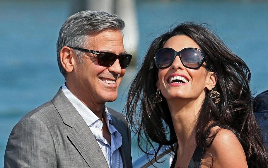 George Clooney z narzeczoną już są w Wenecji /ALESSANDRO DI MEO    /PAP/EPA