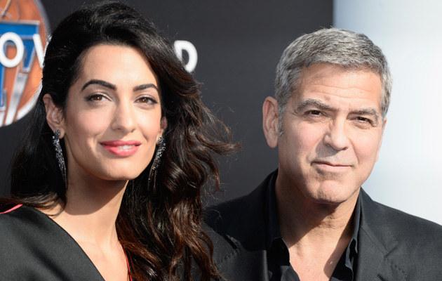 George Clooney z żoną /Frazer Harrison /Getty Images