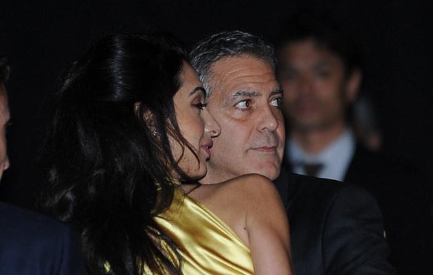 George Clooney z żoną /ANADOLU AGENCY /Getty Images