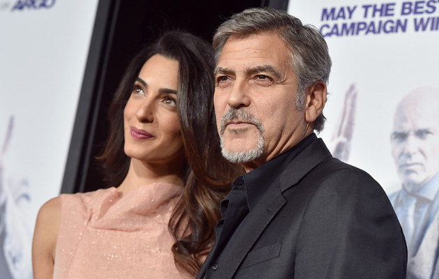 George Clooney z żoną /Kevin Winter /Getty Images