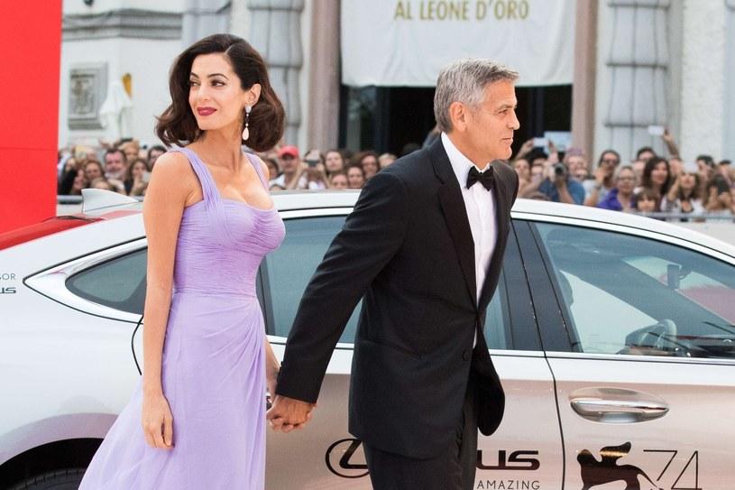 George Clooney z żoną /East News