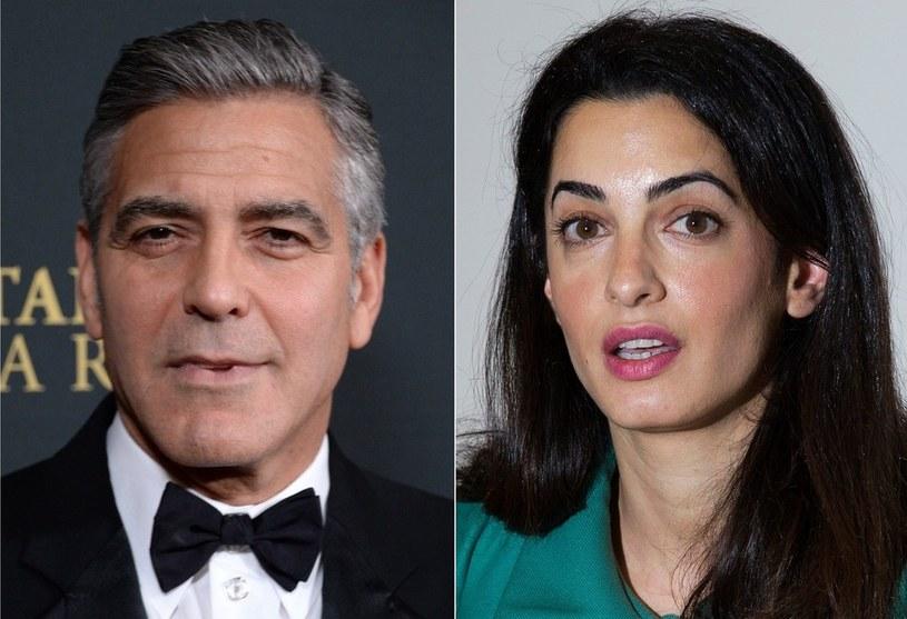 George i Amal od kilku tygodni są jedną z najgorętszych par w show-biznesie. Paparazzi czujnie obserwują ich każdy krok. /JOE KLAMAR/ JUSTIN TALLIS/ AF /East News