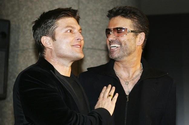 George Michael (z prawej) i Kenny Goss fot. Junko Kimura /Getty Images/Flash Press Media